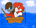 Fishing buddies by PyroCabbit