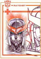 Transformers ratchet fast by Robot1979