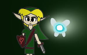 Young Link and Navi Ready for Battle! by ToonPrincessZeldaFan
