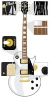 Les Paul Guitar Vector Image by abbott567