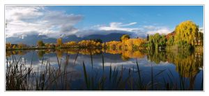 maguire lake panorama by infinityloop