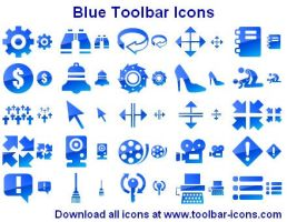 Blue Toolbar Icons by Ikont