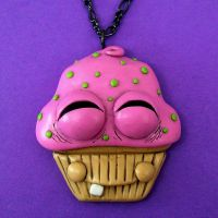 Zen Cupcake Necklace by beatblack