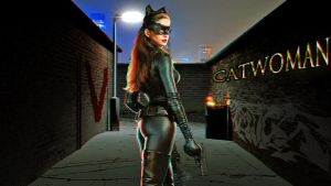 Catwoman Wallpaper  Anaglyph by Geosammy