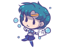 Sailor Mercury by candystartrees