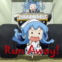 Chibi Ika Musume: RUN AWAY! (Gif) by Playstadion