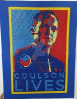 Coulson Lives Perler Poster by sanzosgal