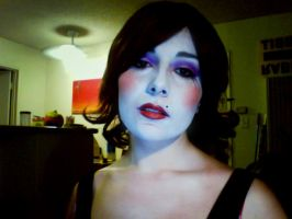 Mad Moxxi Makeup (Borderlands colors) by DustbunnyCosplay