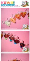 Kawaii Chocolate Hearts Vinyls by KawaiiUniverseStudio
