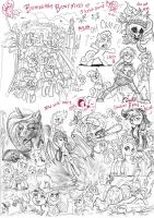 Brummie Brony meet pony sketch up roundup 9 by Jowybean