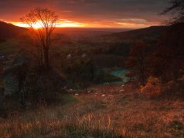 franconian sunset by mescamesh