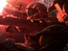 Halo 3: ODST and Master Chief by Legendark