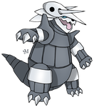 #306 Aggron by SM by Sworn-Metalhead
