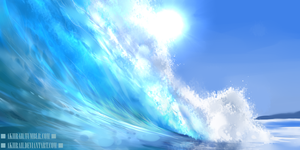 Waves Speedpaint by AkiiRaii
