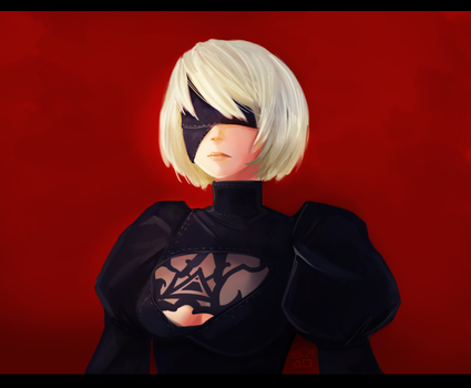 NieR 2B Digital Painting by UrixSummers