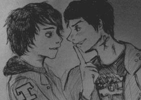 Teenagers!GerardxDesolationRow!Frank by GHOULISHGLOW