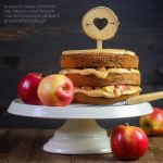 cake with carmelized apples and toffee frosting by Pokakulka