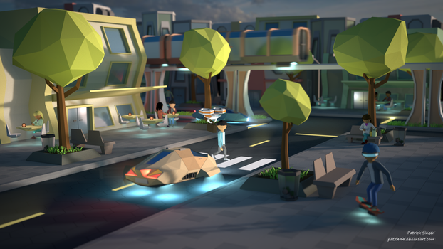 Greetings from the future (LowPoly) by pat2494