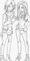 Isaac and Holly-Uncolored by the-fallen-raven13