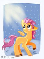 Scootaloo,winter morning by CO--CO-SO