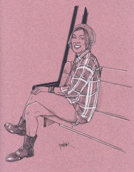 Girl on the Bus by Jerantino