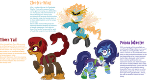 Brony Fest: Houston, Animation Celebration Mascots by InkRose98
