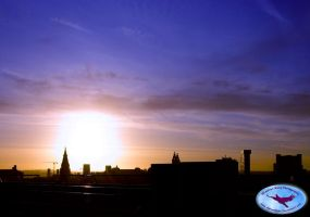 Sunset Over Liverpool by AdrianBlake
