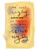 Request: The only ugly woman by request-art