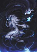 Kindred League of Legends Fan Art by Arkuny by Arkuny