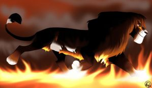 Fire Lion by dyb