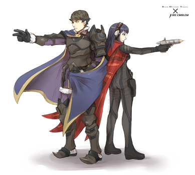 [FE x SMT] Berkut and Alex by Cylent-Nite