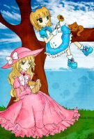 Alice and her sister by Hoshi-Wolfgang-Hime