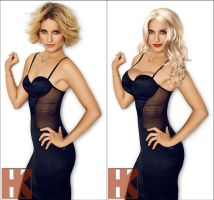 Dianna Agron - Before and After by hskfmn