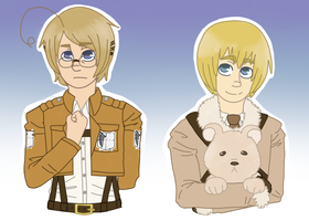 Attack on Hetalia Outfit Swap (200th deviation!!) by Meow-Wows