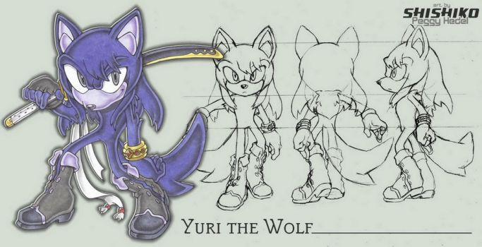 Yuri the wolf by Pichu-Chan