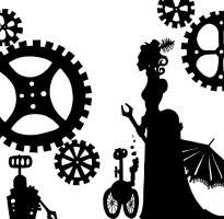 silhouettes - the lady mechanic by Indirie