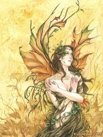 Book art - A Dryad by MeredithDillman