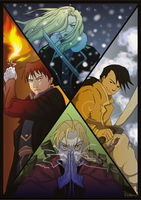 The Four Elements (FMA) by rainhowlspl