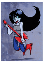 marceline the vampire queen by Lazereyes