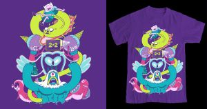 Trial by Fire: Adventure Time T-Shirt by MoulinBleu