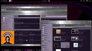 DeLorean_Purple Gtk3 Theme by killhellokitty