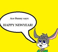 Ace Bunny, Happy NewYear by catdragon4