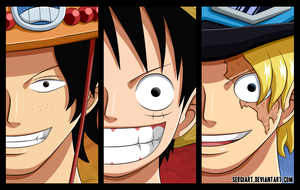 One Piece - Brothers by SergiART