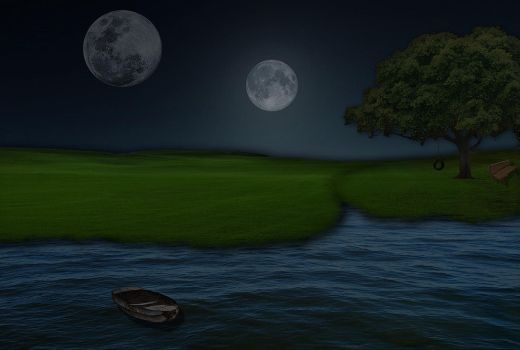 Two Moon by wallybescotty
