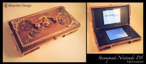 Steampunk Nintedo DS by Absynthe Design by azazel-is-burning