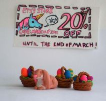 Easter Erasers by saaio