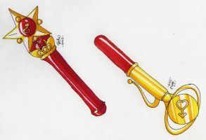 Sailor Mars' Henshin Pens by tini