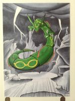 (Commission) Rayquaza for papersteel by BlueSpirit12