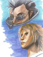 Tidus and Auron by Goober02