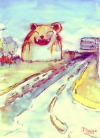 The cat in the road by nisaza